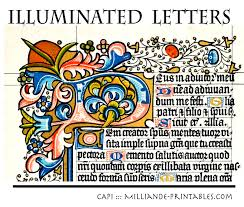 illuminated manuscript letters decorative lettering styles