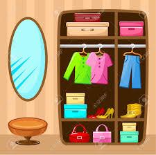 wardrobe room furniture vector illustration royalty free