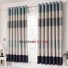 blue striped and polka dots kids designer curtains online buy