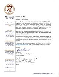 letter of recommendation from bob russell and mayor lowery