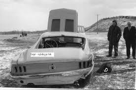 Black Mustang Crash Rare 67 Mustang Fastback Crash Test Photo Page 2 Vintage
