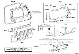 lexus parts worldwide back door panel u0026 glass lexus part list jp carparts com