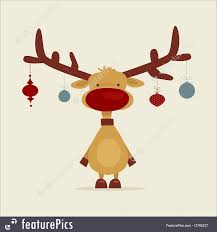 illustration of retro cartoon reindeer