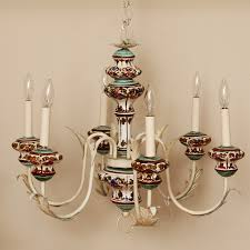 Painted Chandelier Vintage Italian Painted Chandelier Omero Home