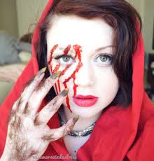 Halloween Werewolf Makeup My Red Riding Hood She Wolf Makeup On We Heart It