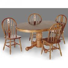 rent to own enhanced oak 5 piece dining room set rent one