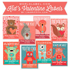 valentines kids printable s day gift labels cards for kids