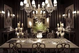 Crystal Light Fixtures Dining Room - modern formal dining room sets long dark dining table contemporary