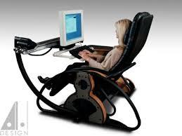 Zero Gravity Computer Desk Supine Workstation Alanharpdesign
