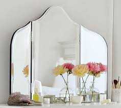 Tri Fold Mirrors Bathroom The Maisie Vanity Mirror Pottery Barn In Tri Fold Bathroom Mirror