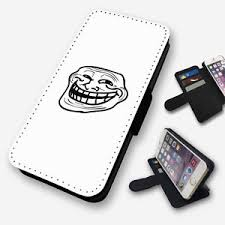 Flip Phone Meme - troll face meme flip phone case cover wallet faux leather ebay