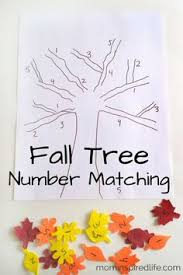 fall leaves poem good number color word recognition