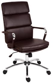 brown leather executive desk chair teknik deco faux leather executive office chair brown robert dyas