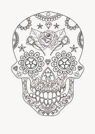 heart sugar skull coloring pages sugar skulls