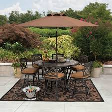 sams club patio table member s mark heirloom bay slate dining set with premium sunbrella