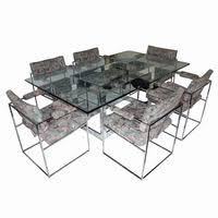 milo baughman dining table midcentury retro style modern architectural vintage furniture from
