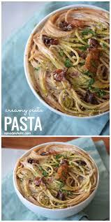 Best Easy Comfort Food Recipes Creamy Pesto Pasta Recipe Best Creamy Pesto Pasta And Easy