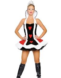 Cheap Women Halloween Costumes Cosplay Queen Hearts Deluxe Costume Size