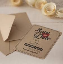 save the date wedding cards brown kraft save the date wedding invites by