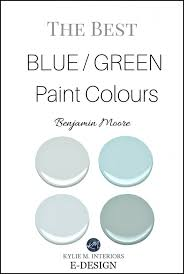 8 most popular blue and green blend paint colours sw and bm