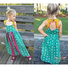 striped swallow designs girls soho maxi dress sewing pattern