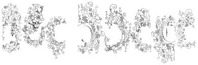 free bodoni ornaments abstract fonts