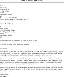 qa cover letter resume cover letter for qa qa position resume analyst manual