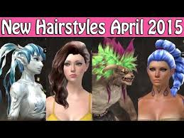 new hairstyles gw2 2015 guild wars 2 new hairstyles april 2015 youtube