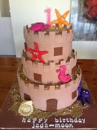 sandcastle cake under the sea cakes pinterest
