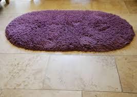 Lilac Rug Rainbow Washable Contemporary Oval Floor Rug Shaggy Pile 100
