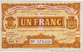 chambre de commerce granville 1 franc regionalism and miscellaneous granville et cherbourg