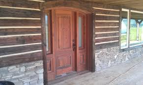 rustic exterior siding custom exterior door assembly chinking