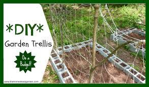 build a garden trellis diy garden trellis the homestead garden
