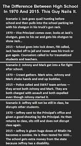 School Today Meme - internet meme demolition derby high school the 70s vs today