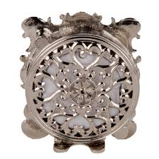Pewter Mantle Clock Amazon Com Nikky Home Pewter Pretty Small And Cute Table Clock