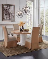 furniture classics dining room burlap floor length slip cover