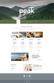 website template 48097 peak mountain hotel custom website