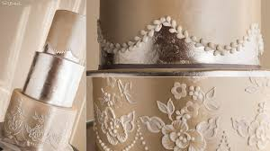 shimmering lace wedding cake online cake decorating tutorials