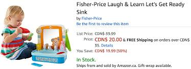 fisher price let s get ready sink amazon canada deals save 50 on fisher price laugh learn let s
