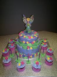 tinkerbell 2 tier cake cake ideas pinterest tiered cakes