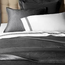 Linen Covers Gray Print Pillows White Walls Grey Luxury Duvet Covers Shams Williams Sonoma