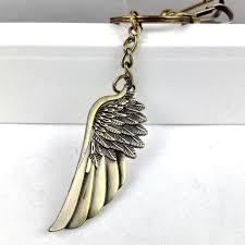 unique key ring vintage cool metal angel wing keychain retro unique alloy