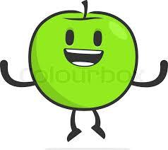 apple cartoon funny cartoon apple stock vector colourbox