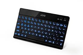 bluetooth keyboard android azio large print backlit bluetooth keyboard for