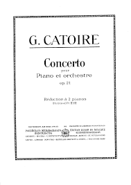 Sample Technical Writer Resume by Piano Concerto Op 21 Catoire Georgy Imslp Petrucci Music
