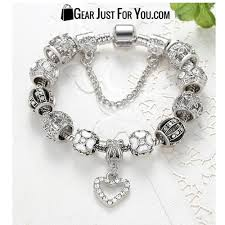 silver heart pendant bracelet images Authentic 925 silver heart charm bracelet gear just for you jpg