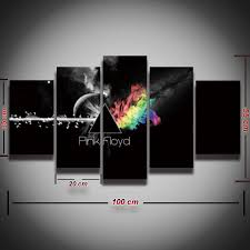 Wall Art Home Decor Aliexpress Com Buy 5 Pcs Printed Pink Floyd Rock Music Canvas