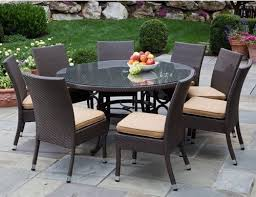 Glass Top Patio Table And Chairs Wicker Patio Furniture With Glass Patio Table On Top And