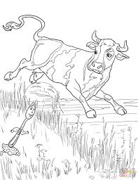 cow jumped over the moon coloring page free printable coloring pages