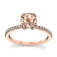 what is morganite blossom bridal 14k gold morganite diamond engagement ring 1 8